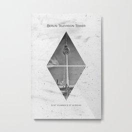 Coordinates BERLIN Television Tower Metal Print