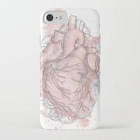 anatomical heart iPhone & iPod Cases featuring Anatomical Heart by Sumi Senthi