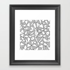Abstraction Lines Black on White Framed Art Print