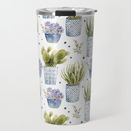 cactus in patterned pots pattern Travel Mug