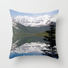 Mountain Reflection with Lone Pine Throw Pillow