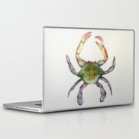 crab Laptop & iPad Skins featuring Crab by Sara Katy