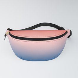 Living Coral Millennial Pink Princess Blue Ombre Pattern Trendy Colors of Year 2019 Fanny Pack