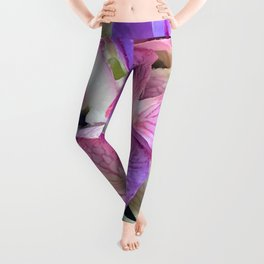 """""""Butterfly Wings"""" Pink & Lilac Colored Flowers Leggings"""
