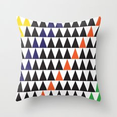 graphic triangle Throw Pillow