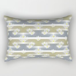 Mix of formal and modern with anemones and stripes 1 Rectangular Pillow