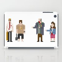 shaun of the dead iPad Cases featuring 8-bit Shaun of The Dead by MrHellstorm