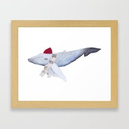 Whale in a Beanie Framed Art Print