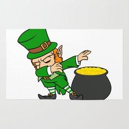 Dabbing Leprechaun Dab St Patricks Day Pot of Gold Rug