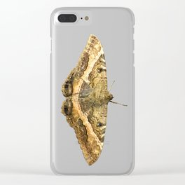 Black Witch Moth Clear iPhone Case