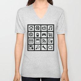 Web Icons Unisex V-Neck