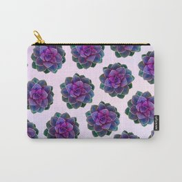 Ultra Violet Succulents Carry-All Pouch