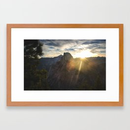 Yosemite National Park - Half Dome at Sunrise Framed Art Print