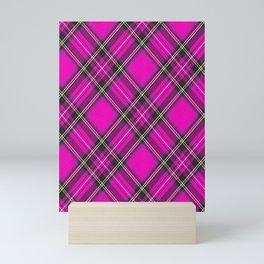 Pink Tartan Mini Art Print