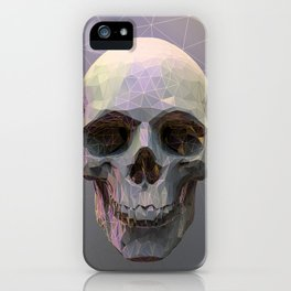 Skull Colorful Wires 1 iPhone Case