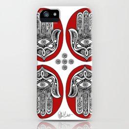 Red Hamsa Illustration iPhone Case