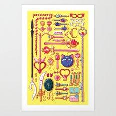 Magical Aresenal yellow Art Print