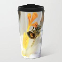 Bee on a Spring Crocus 6 Travel Mug