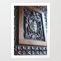 Fleur De Lis And Papal Keys  Art Print
