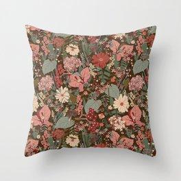 Garden Adventure Print Throw Pillow