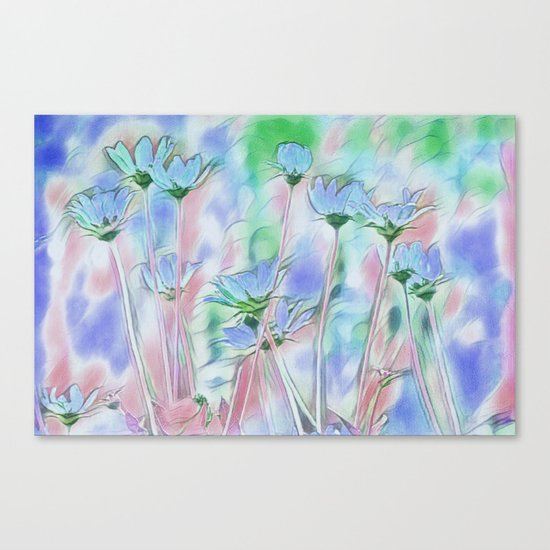 Coming Up Blue Canvas Print