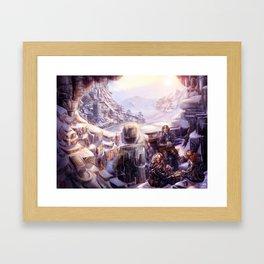 Snow Installations Framed Art Print