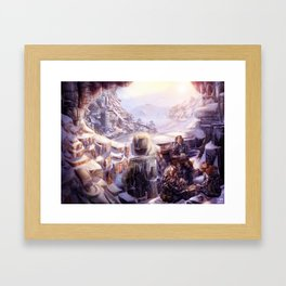 Snow Installations Framed Art Print