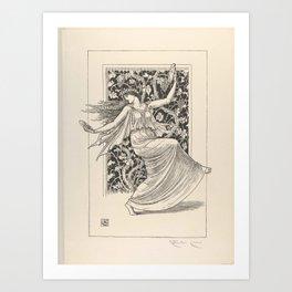 Dancing Nymph (Nymphe Danseuse) Walter Crane Art Print