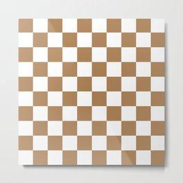 Checkered Pattern: Ginger Metal Print