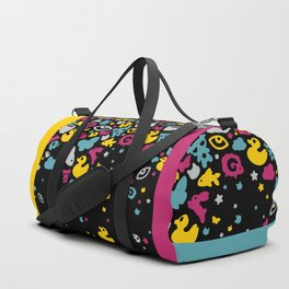 Toys falling like candies from starry night sky Duffle Bag