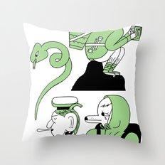 sad friend Throw Pillow