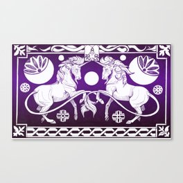 Celtic unicorn Canvas Print