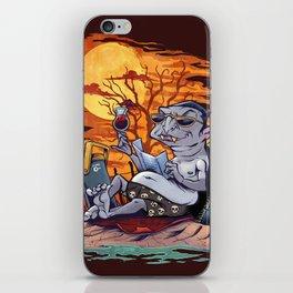 Vampire At The Beach  iPhone Skin