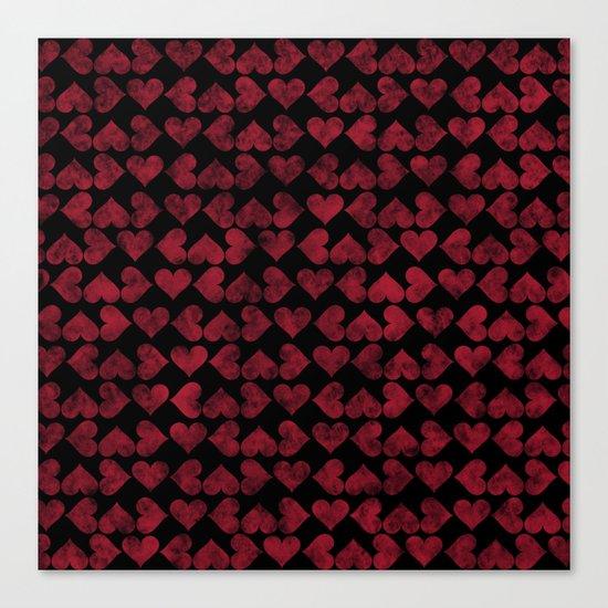 Colorful Love Pattern XV Canvas Print