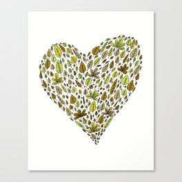 Lovely green leaves Canvas Print