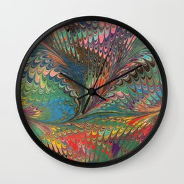 Rainbow Swirl  Wall Clock