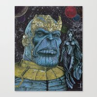 thanos Canvas Prints featuring Thanos of Titan by GraphixRob Studios