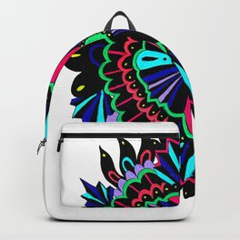 Neon Lace Peony Backpack