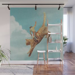 Meehaw - Rodeo Cat Wall Mural