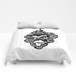 spaces in between Comforters