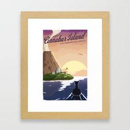 Cinnabar Island Travel Poster Framed Art Print