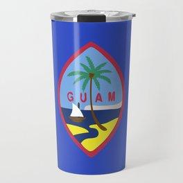 Guam flag emblem Travel Mug