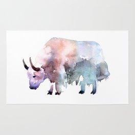 Wild yak / Abstract animal portrait. Rug