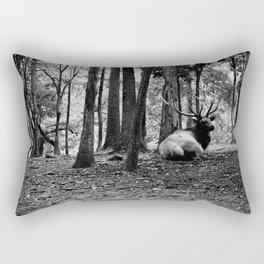 Elk Laying Down in Woods Rectangular Pillow