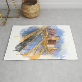 Pittsburgh Fort Pitt and Downtown Rug