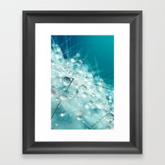 Dandy Starburst in Blue Framed Art Print