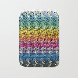 Escher FIsh Rainbow Pattern Bath Mat