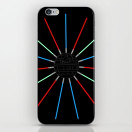 A Twinkling Deathstar 80's Style iPhone Skin