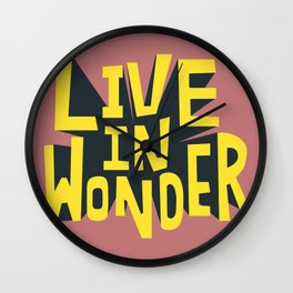 Live in Wonder Wall Clock