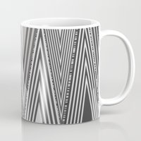 knit Mugs featuring Grey Knit by GPM Arts
